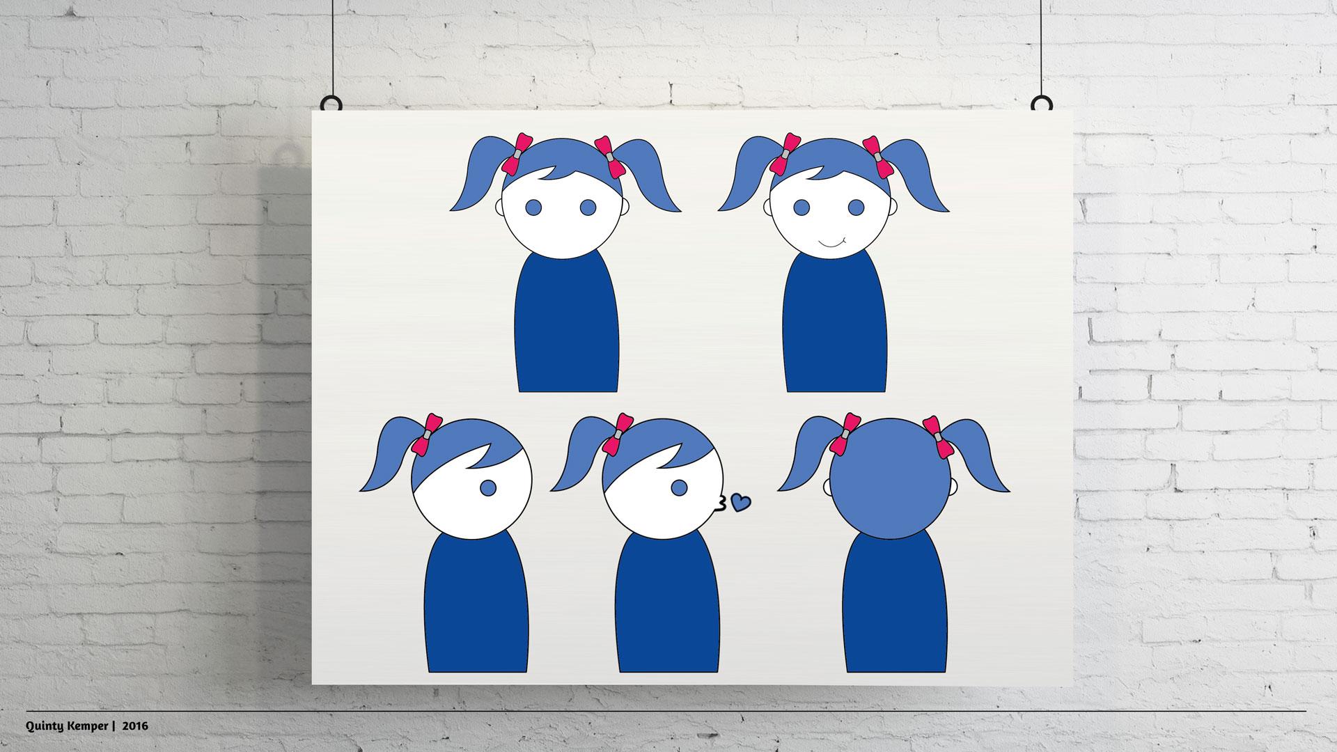 Quinty Kemper Portfolio 2016 Daley character little girl