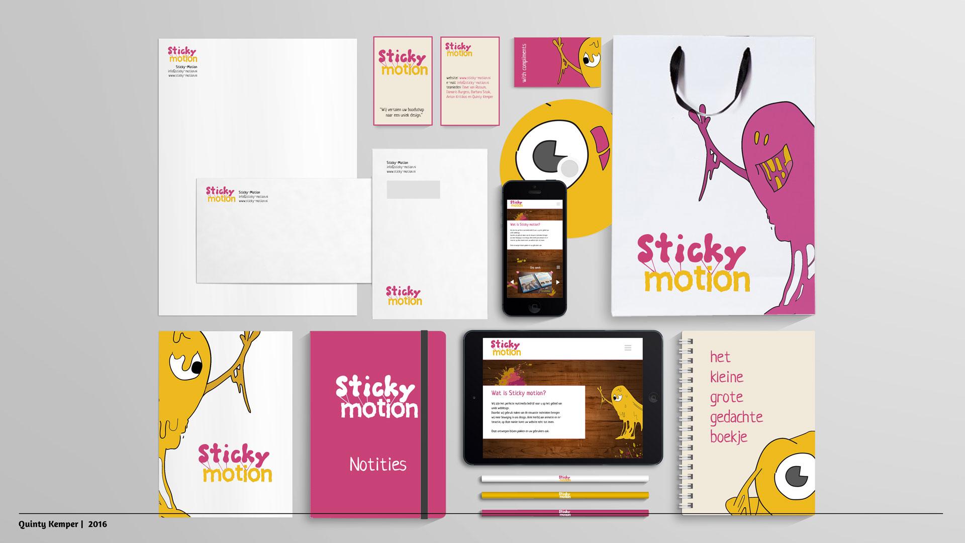 Quinty Kemper Portfolio 2016 Sticky-Motion Visual Identity
