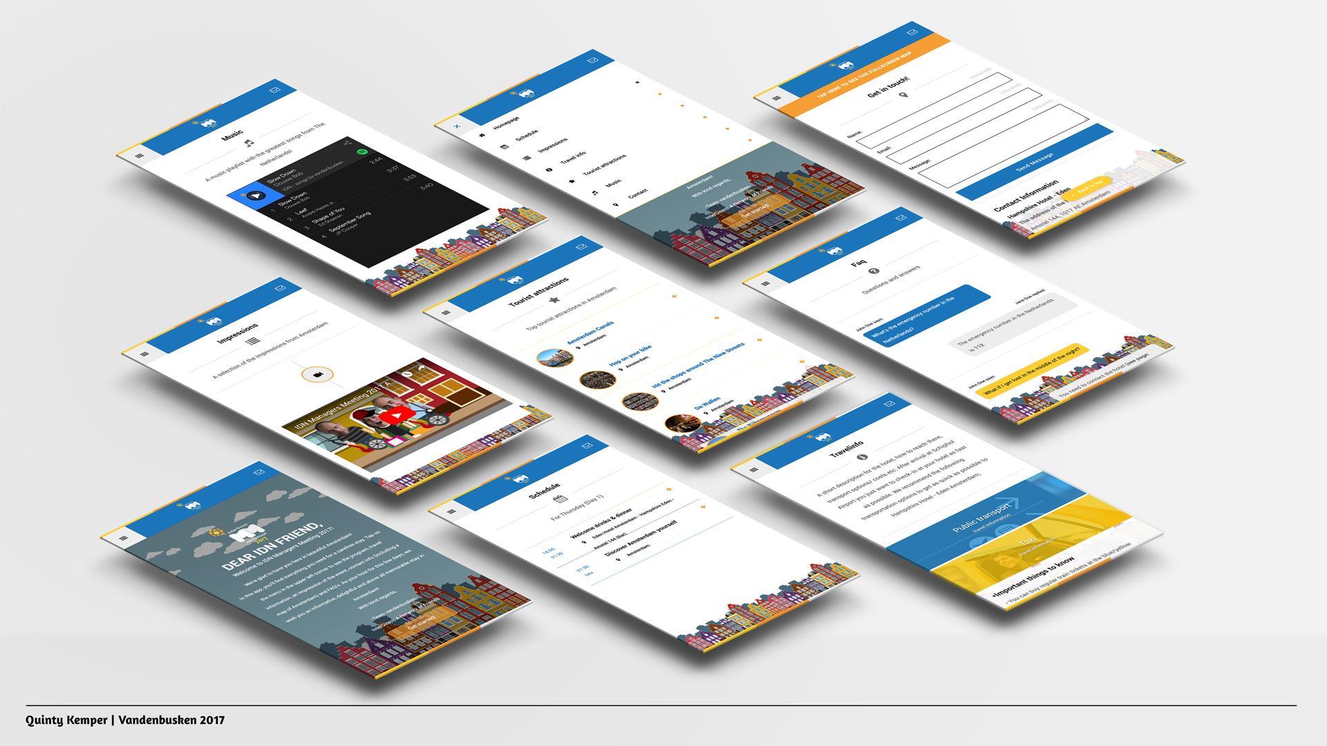 Quinty Kemper Portfolio 2016 IDN app screens