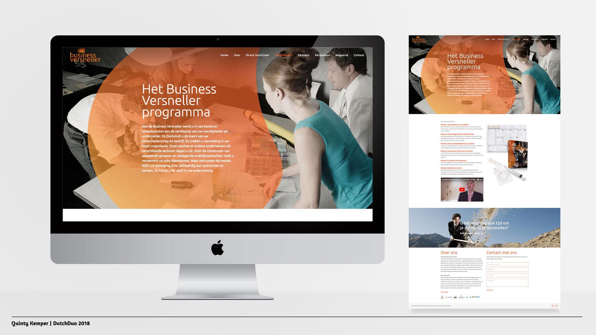 Quinty Kemper Portfolio 2018 Business Versneller web programma's