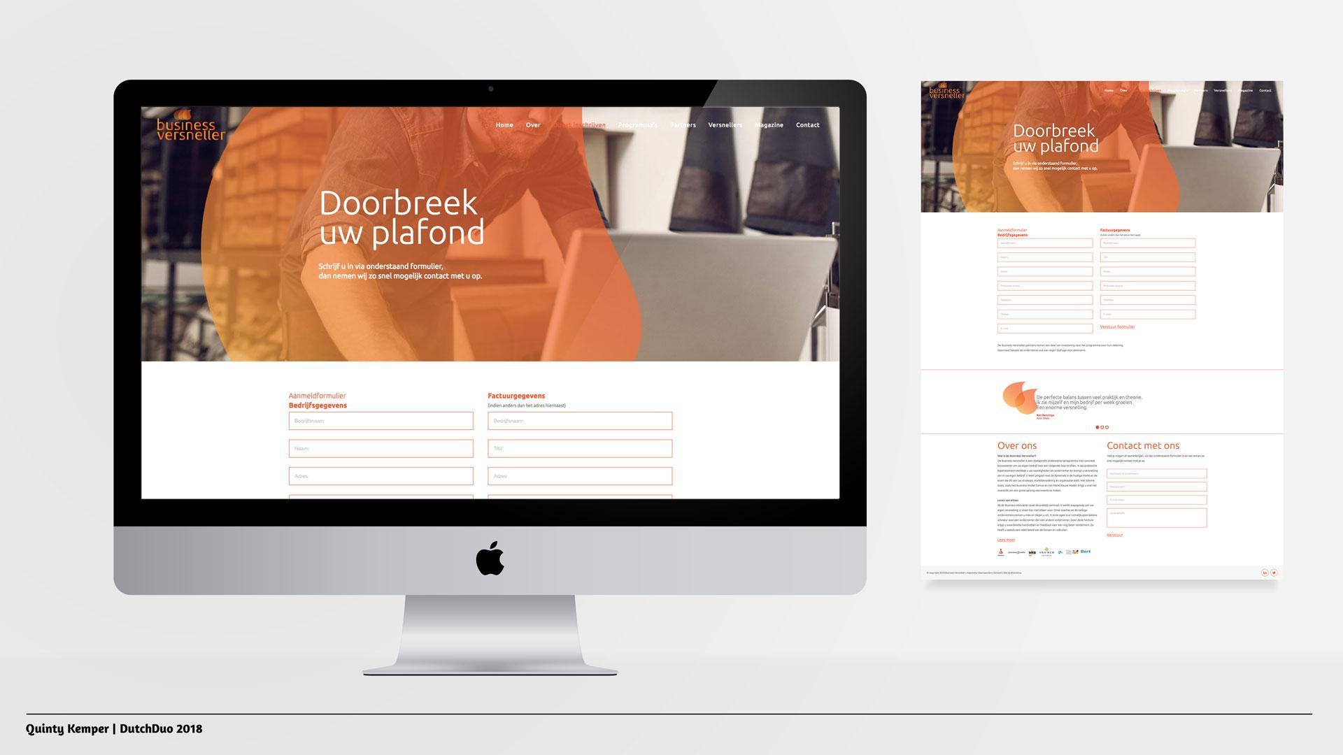 Quinty Kemper Portfolio 2018 Business Versneller web direct inschrijven
