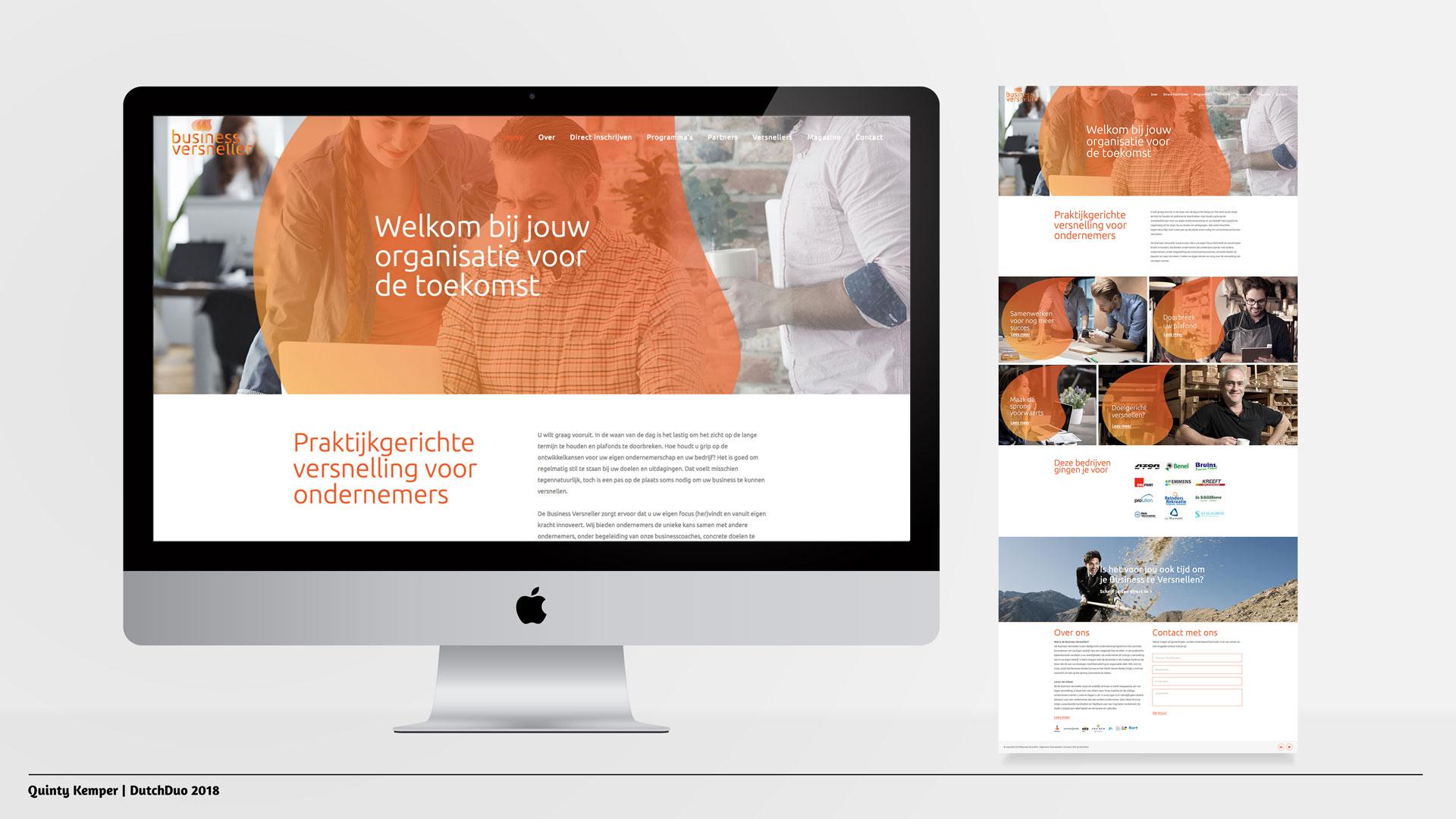 Quinty Kemper Portfolio 2018 Business Versneller web home