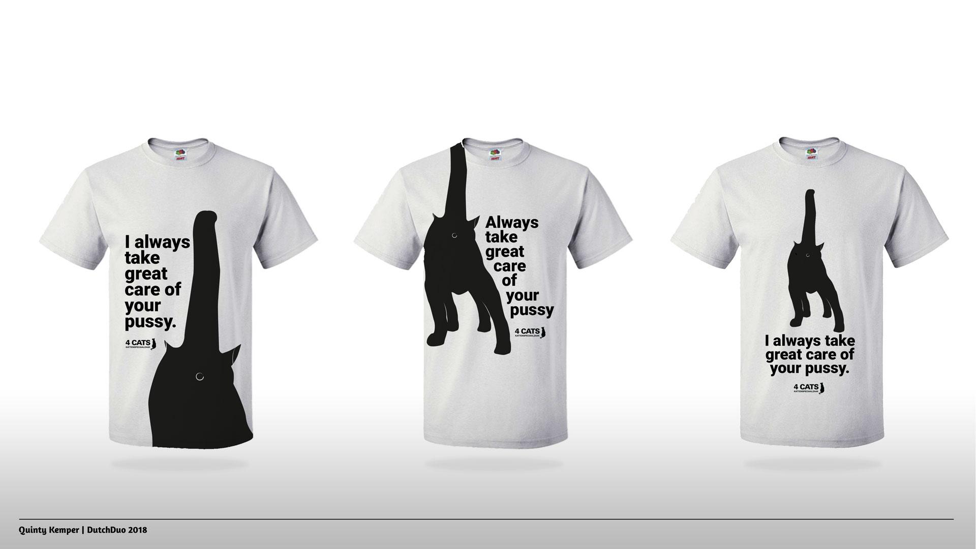 Quinty Kemper Portfolio 2018 Kattenspeciaalzaak t-shirts