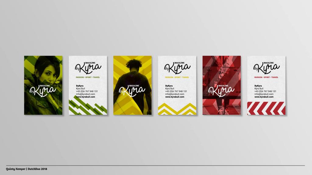 Quinty Kemper Portfolio 2018 Kyra logo 1 visitekaartjes