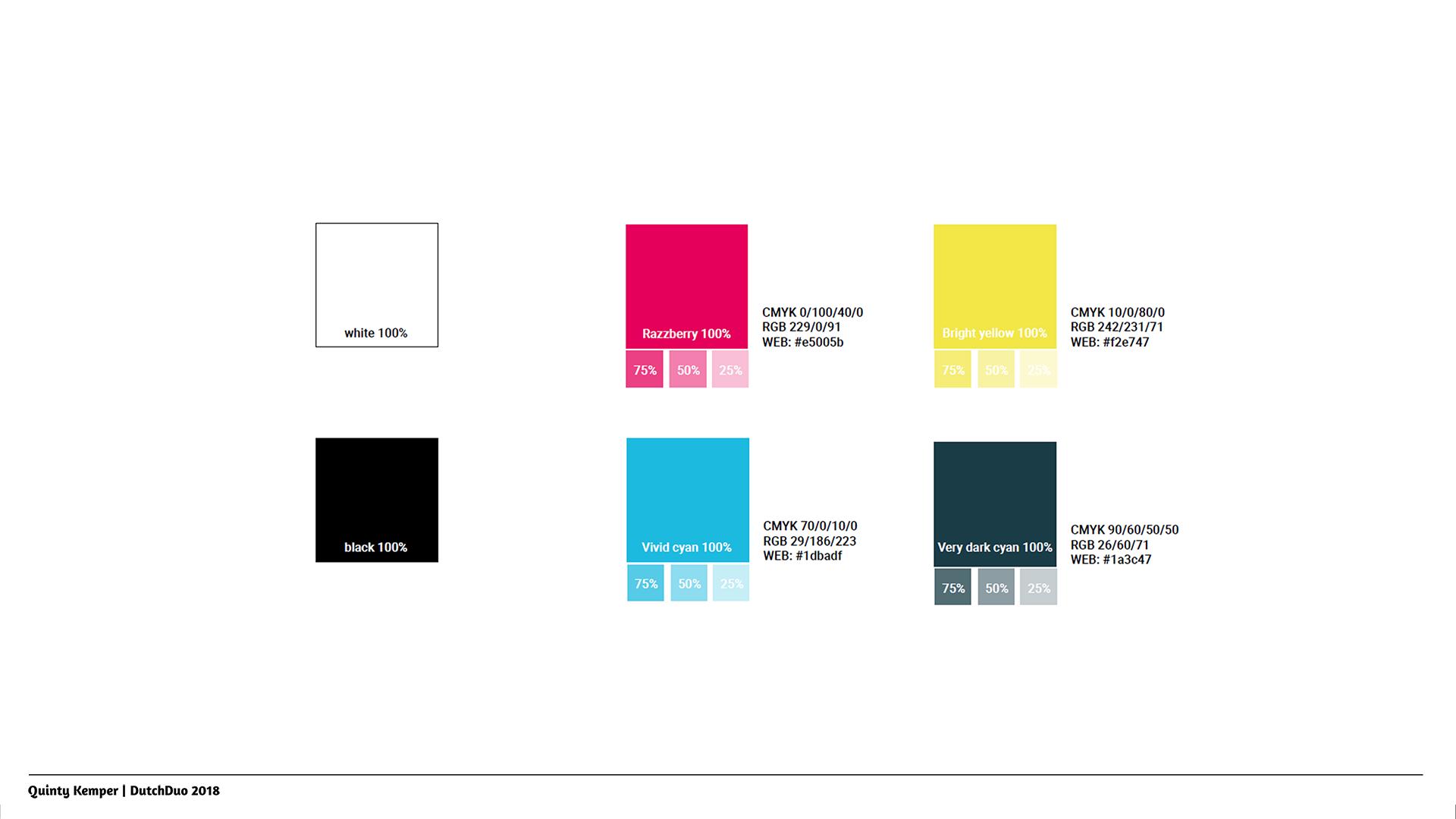 Quinty Kemper Portfolio 2018 Kyra logo 2 color palette