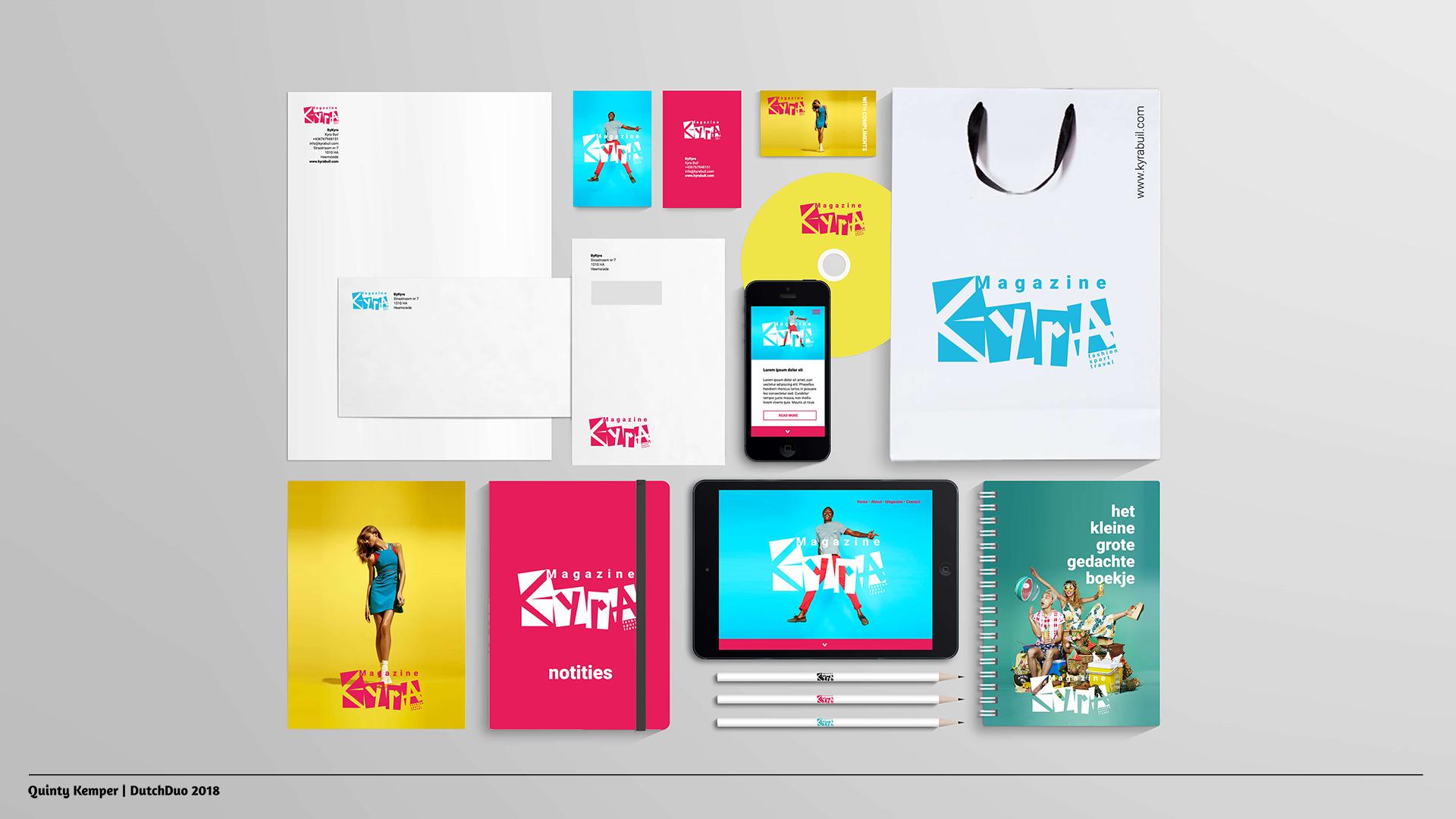 Quinty Kemper Portfolio 2018 Kyra logo 2 visual identity