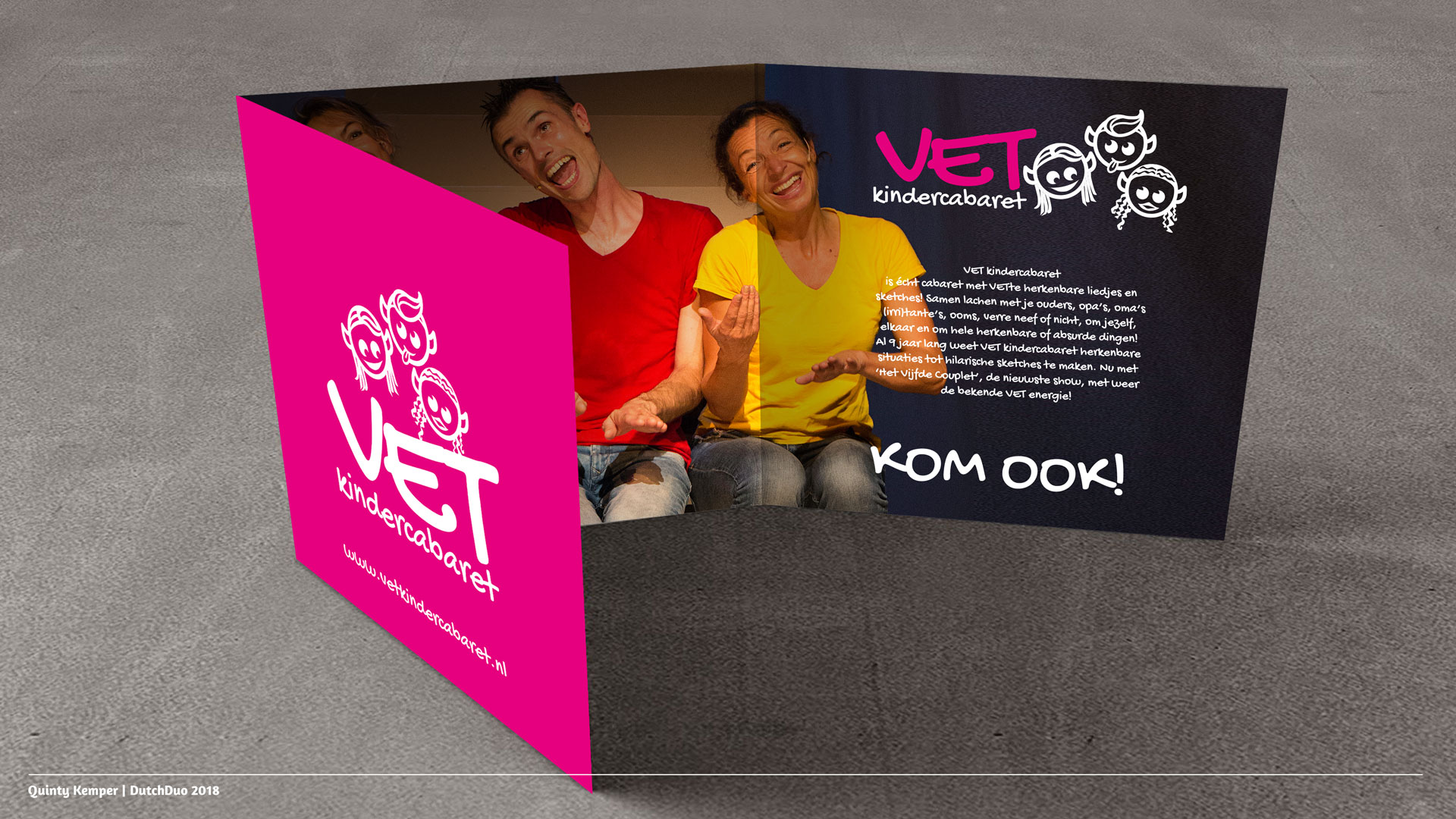 Quinty Kemper Portfolio 2018 VET Kindercabaret brochure