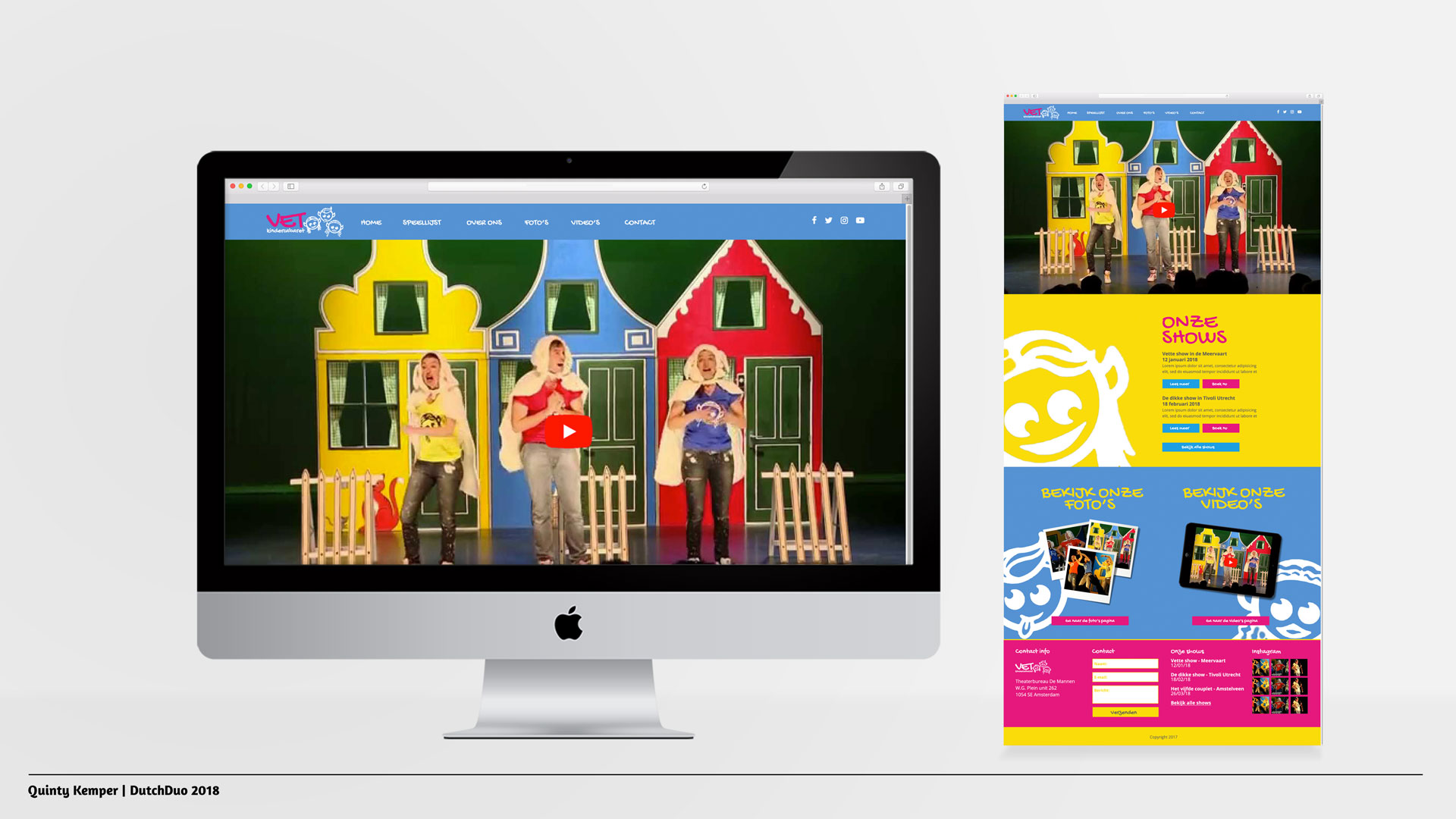 Quinty Kemper Portfolio 2018 VET Kindercabaret web home
