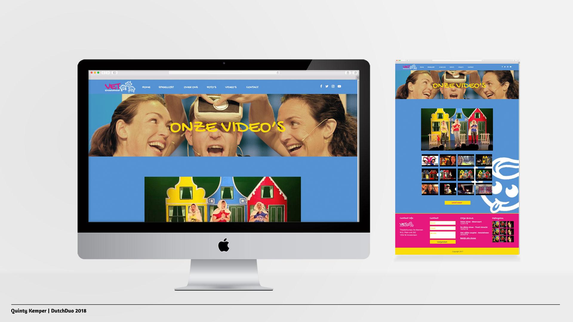 Quinty Kemper Portfolio 2018 VET Kindercabaret web video's