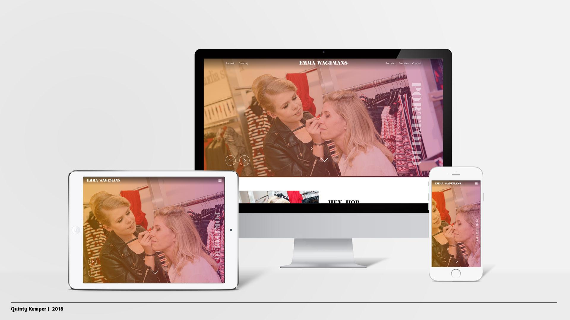 Quinty Kemper Portfolio 2018 Portfolio website Emma Wagemans